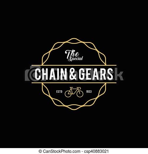 Retro Vintage Bicycle Label Design - csp40883021