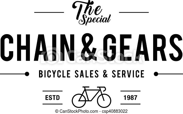 Retro Vintage Bicycle Label Design - csp40883022