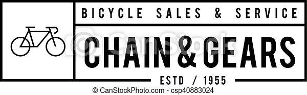 Retro Vintage Bicycle Label Design - csp40883024