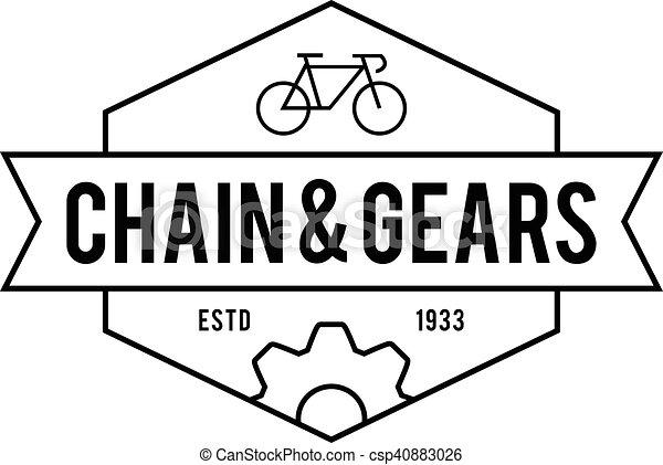 Retro Vintage Bicycle Label Design - csp40883026