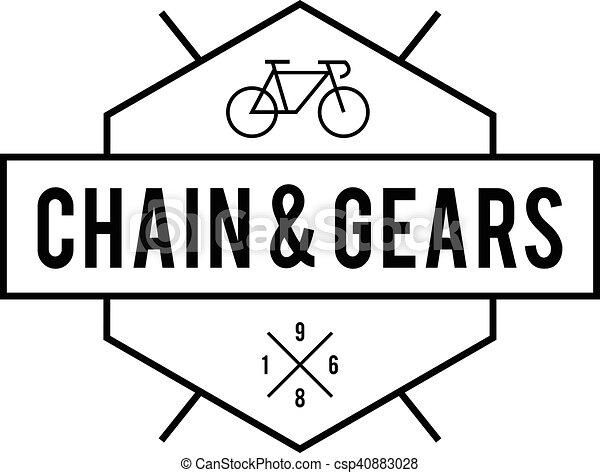 Retro Vintage Bicycle Label Design - csp40883028