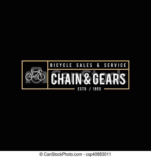 Retro Vintage Bicycle Label Design - csp40883011
