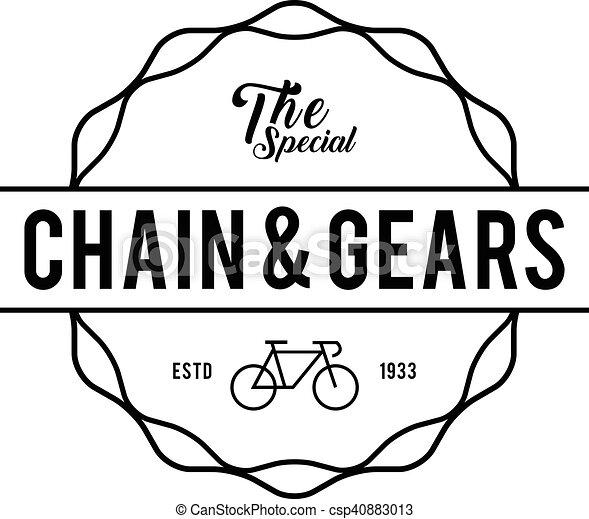 Retro Vintage Bicycle Label Design - csp40883013