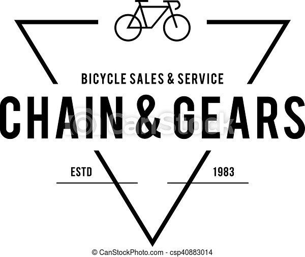 Retro Vintage Bicycle Label Design - csp40883014