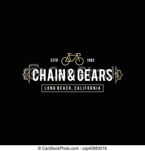 Retro Vintage Bicycle Label Design - csp40883016