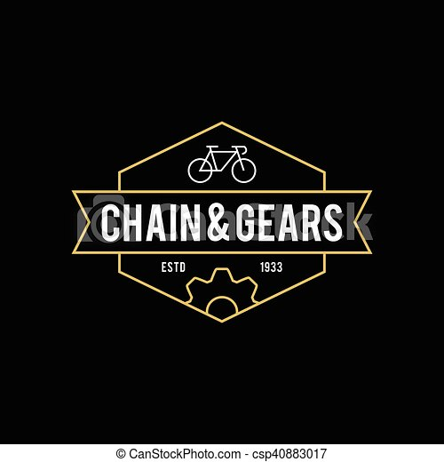 Retro Vintage Bicycle Label Design - csp40883017