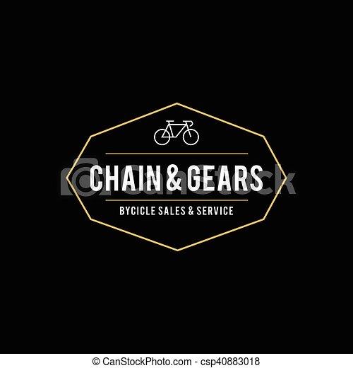 Retro Vintage Bicycle Label Design - csp40883018