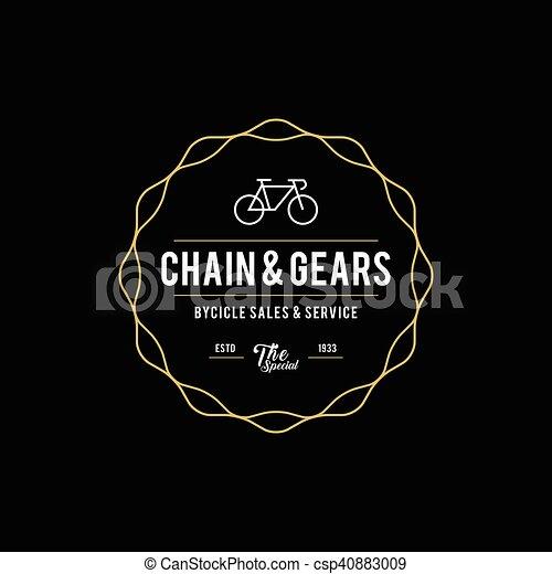 Retro Vintage Bicycle Label Design - csp40883009