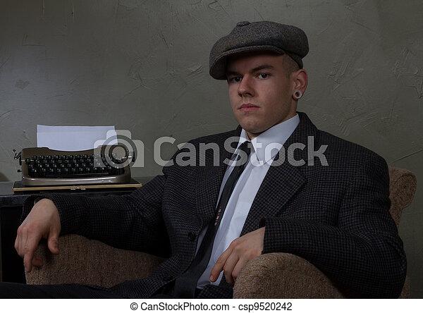 retro vintage business man - csp9520242