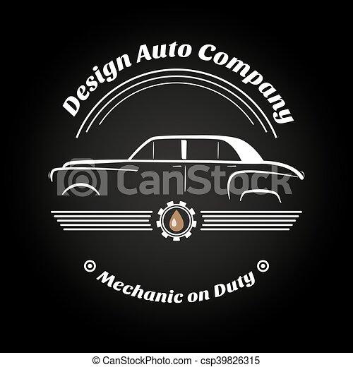 Retro Vintage Car Logo Business Signs Labels Mechanism Vector