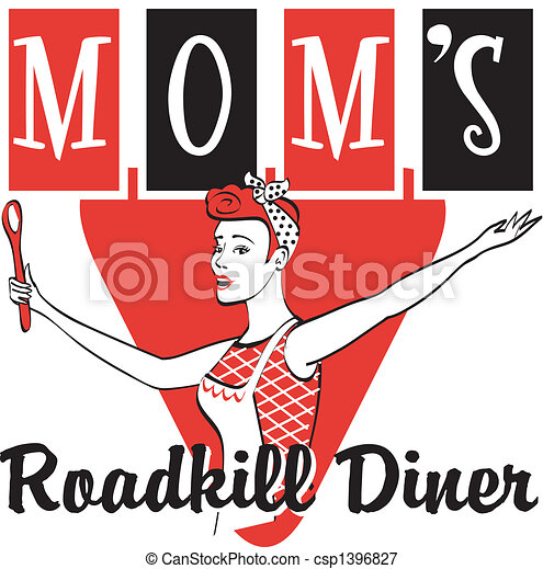 Retro Vintage Diner Restaurant Sign - csp1396827