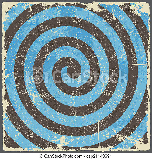 Retro vintage grunge spiral background. Vector - csp21143691
