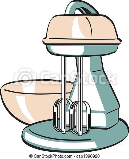Retro Vintage Kitchen Blender Mixer Retro Or Vintage Kitchen Electric Blender Or Mixer In Classic 1940s Or 1950s Line Art