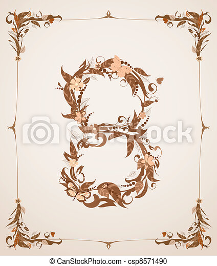 retro-vintage-letter-number-in-a-frame-vector-clipart_csp8571490 Old Letter Template S on