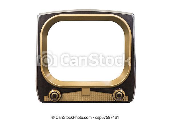 Retro Vintage Television - csp57597461