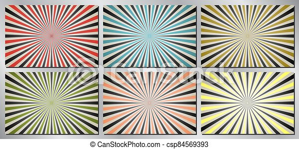 Retro, vintage vector background - sunburst - csp84569393