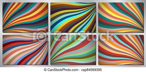 Retro, vintage vector background - stripes - csp84569395
