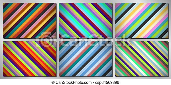 Retro, vintage vector background - stripes - csp84569398