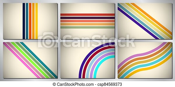 Retro, vintage vector background - stripes - csp84569373