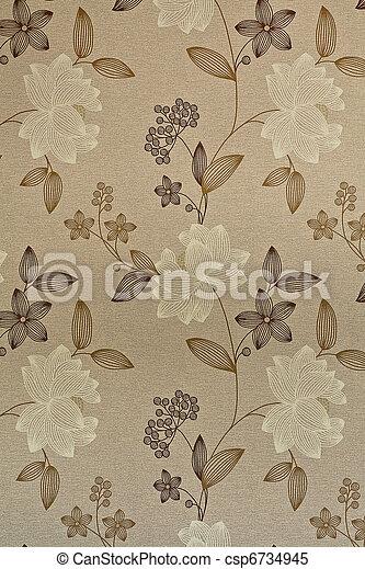 Retro / vintage wallpaper or backgr - csp6734945