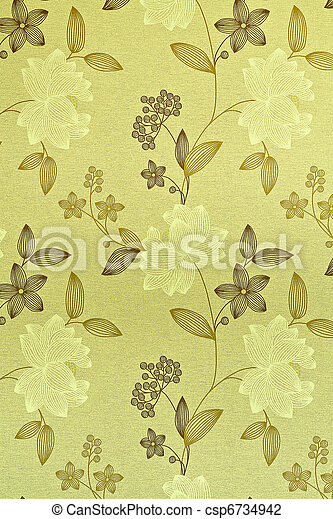 Retro / vintage wallpaper or backgr - csp6734942