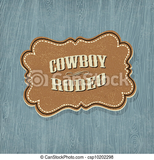 Retro western classic label. Vector illustration, EPS10 - csp10202298