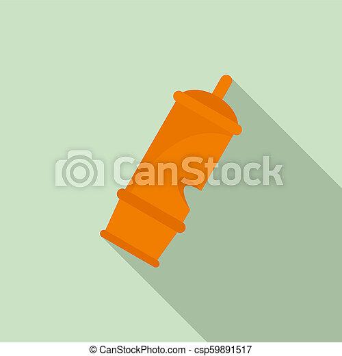 Retro whistle icon, flat style - csp59891517