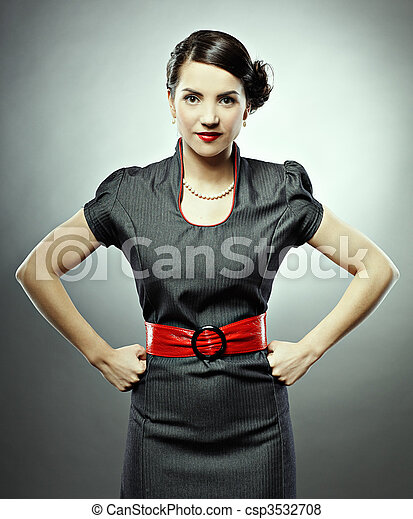 retro woman - csp3532708