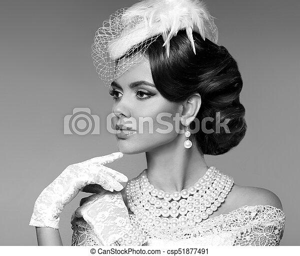 Methods to Order the bride Online retro woman portrait elegant lady with stock photograph csp51877491