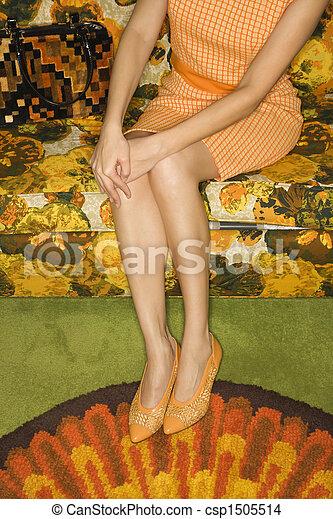 Retro woman. - csp1505514