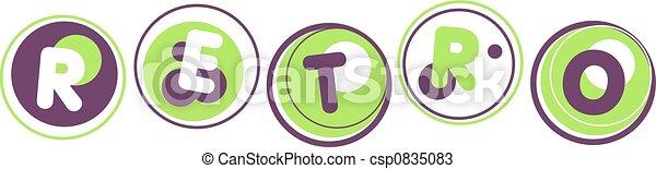 retro word - csp0835083