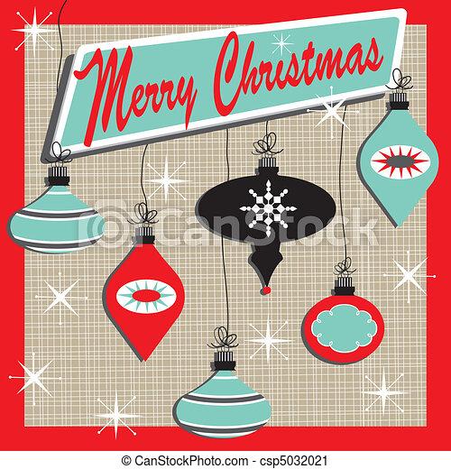 retro, zalige kerst - csp5032021