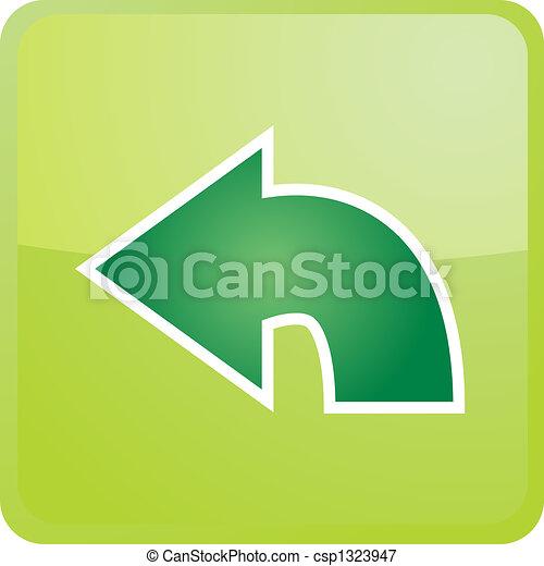 Return navigation icon - csp1323947