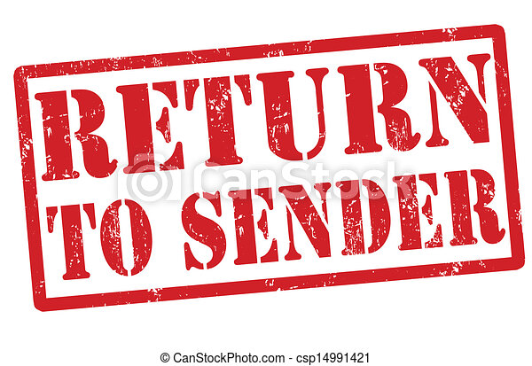 Return to sender stamp - csp14991421