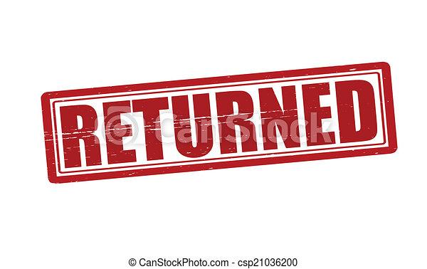 returned stamp with word returned inside vector illustration