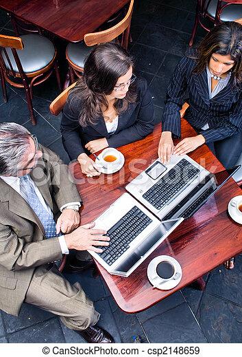 reunião, aéreo, negócio, vista - csp2148659