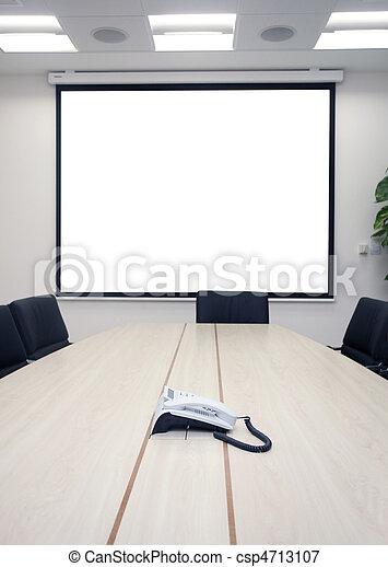 reunião, escritório, negócio - csp4713107