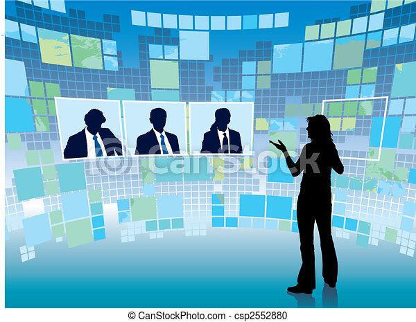 reunião, virtual - csp2552880