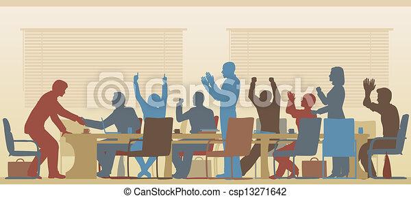 Reunión de éxito - csp13271642