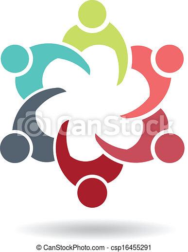 Reunión de negocios con 6 personas - csp16455291