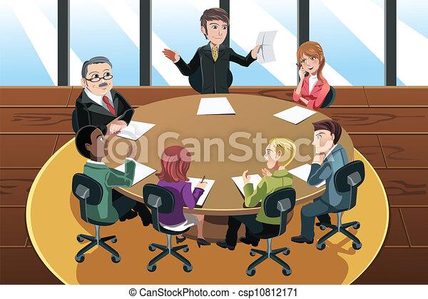 Reunión de negocios - csp10812171