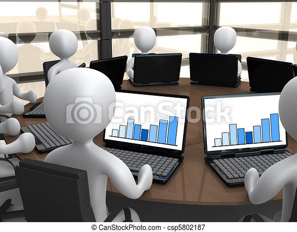 Reunión de negocios - csp5802187