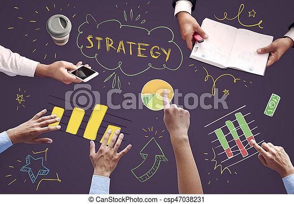 Equipo de negocios en la reunión - csp47038231