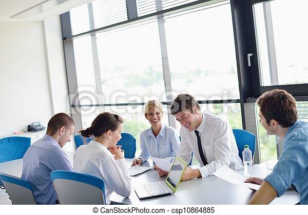 reunión, oficinacomercial, gente - csp10864885