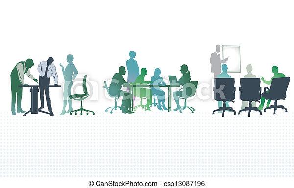 reuniones, oficina - csp13087196