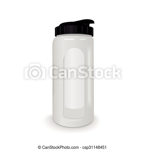 Reusable Water Bottle Isolated On White Background