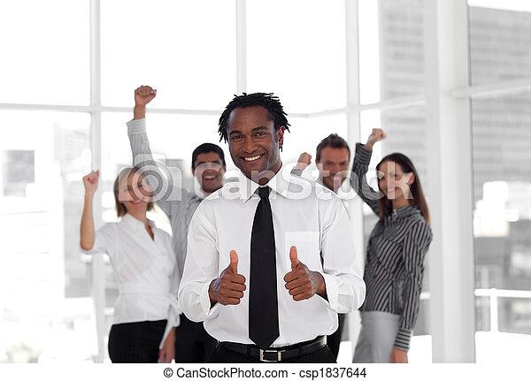 reussite, équipe, célébrer, business - csp1837644