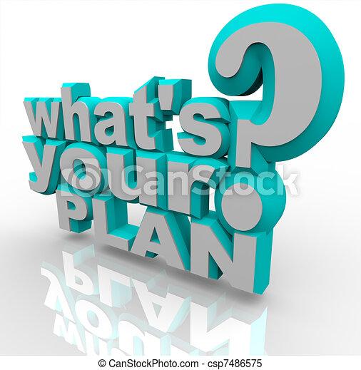 reussite, est, -, stratégie, planification, plan, prêt, ton - csp7486575