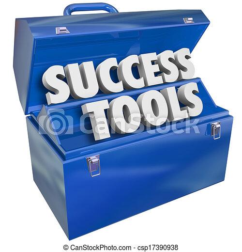 reussite, techniques, buts, boîte outils, outils, accomplir - csp17390938