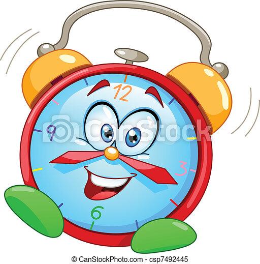 reveil, dessin animé, horloge - csp7492445